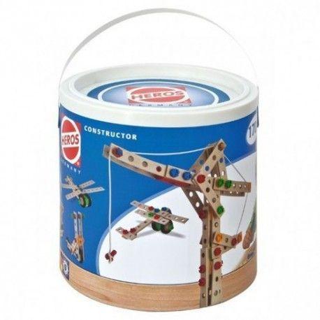 Heros Constructor w zestawie 39038 ma o 10 elementów mniej:) tylko 170 dla Dzieci od lat 5.  Zestaw zawiera części drewniane oraz plastikowe takie jak śrubki i nakrętki. W pudełku instrukcja wykonania aż 9 modeli, w tym lokomotywy czy też wyścigówki.  Sprawdźcie sami:)  http://www.niczchin.pl/drewniane-zabawki-zrecznosciowe/2614-klocki-heros-constructor-39038-170-el.html  #heros #klockiheros #klockikonstrukcyjne #zabawki #niczchin #krakow