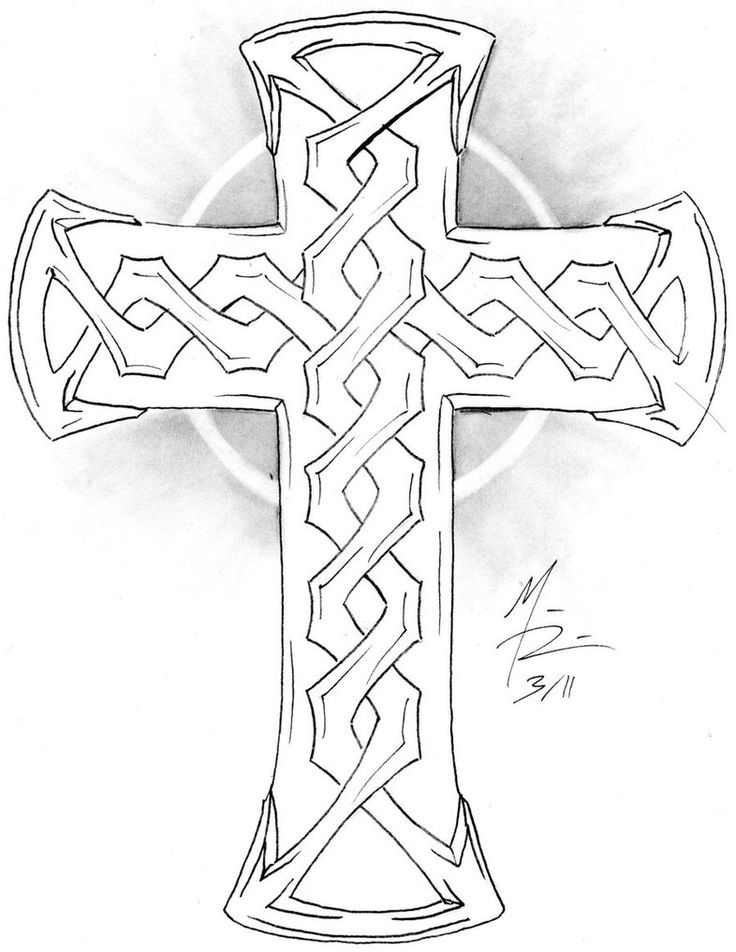21 best Cross Tattoo Outlines images on Pinterest | Cross ... Cross Tattoo Outline