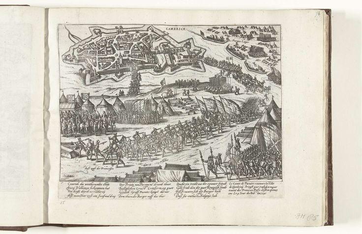 Fuentes verovert Kamerijk, 1595, atelier van Frans Hogenberg, 1595 - 1612