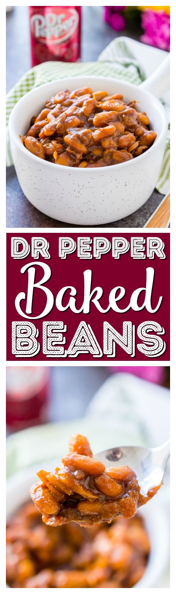 These Dr Pepper Baked Beans are a sweet and delicious side dish that's ready in less than an hour! Perfect for BBQ's and game day parties! via @sugarandsoulco