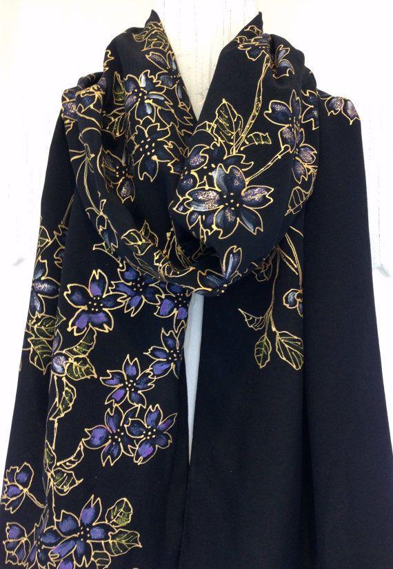 124 best Silk Scarves Takuyo images on Pinterest   Painted ...