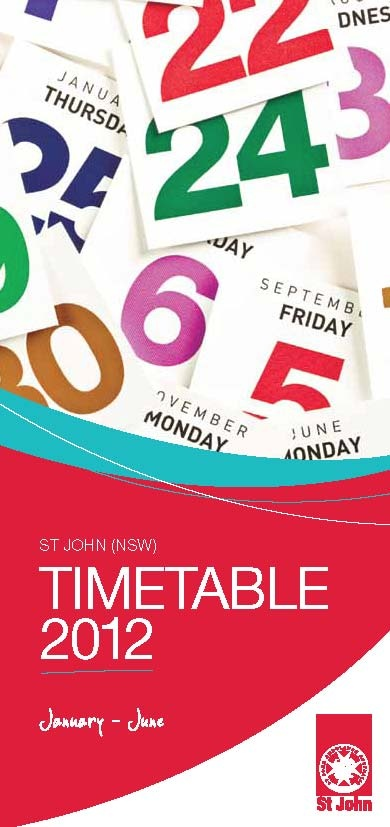 St John Ambulance - Sydney - First Aid Training Timetables