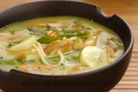 Chicken Laksa: Here is a hot and spicy noodle soup that is excellent as a one-dish meal.