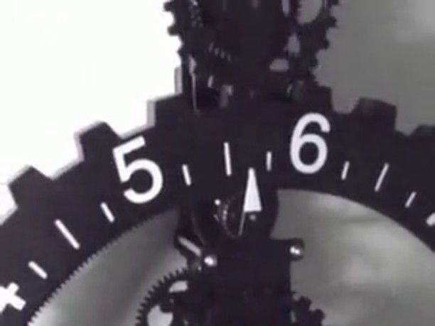 Mechanical clock with rotating numbers. Follow  @dynamicautomation
