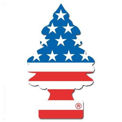 USA flag Wunderbaum. Wunderbaum med duft af det Amerikanske flag.  Der er ikke et øje tørt når det velduftende paptræ med USA flag bliver hængt i bakspejlet.  Den flotte Wunder-Baum måler 12 x 7 cm og spreder en frisk duft i din bil i flere måneder.