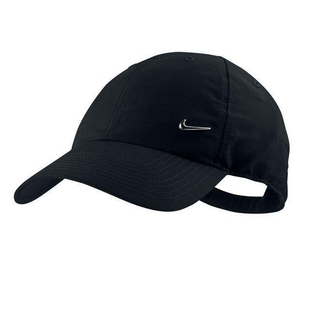 Nike Metal Swoosh Cap In Black In 2021 Nike Cap Nike Hat Nike