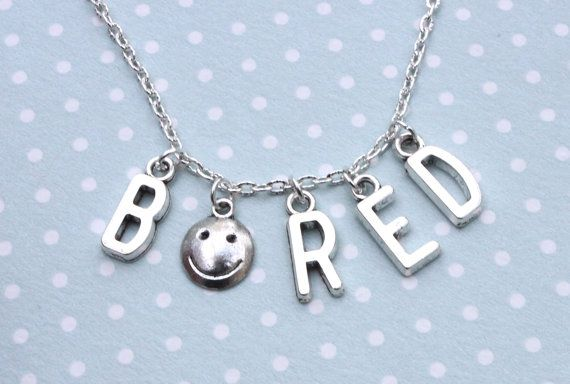 Sherlock Holmes BORED necklace by otterlydesign on Etsy, $20.00