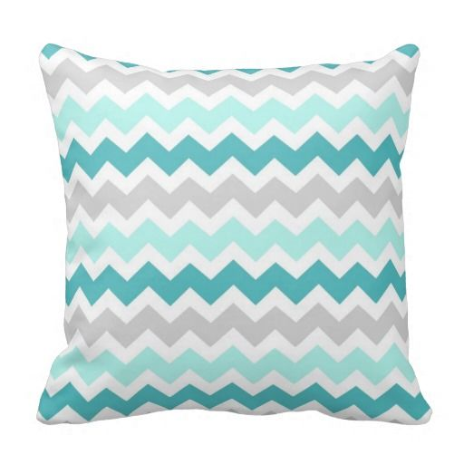 =>>Save on          	Teal Gray Chevron Decorative Pillow           	Teal Gray Chevron Decorative Pillow lowest price for you. In addition you can compare price with another store and read helpful reviews. BuyReview          	Teal Gray Chevron Decorative Pillow please follow the link to see ful...Cleck Hot Deals >>> http://www.zazzle.com/teal_gray_chevron_decorative_pillow-189049873441889990?rf=238627982471231924&zbar=1&tc=terrest