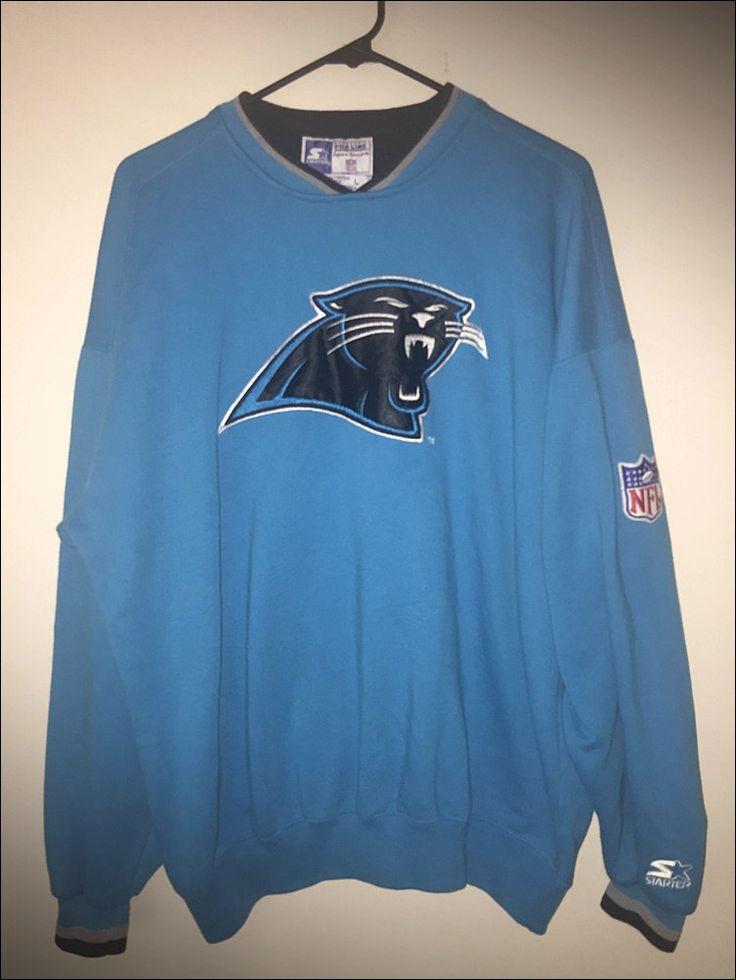 Vintage 90's Starter NFL Carolina Panthers Crewneck Sweatshirt - Size Large/XL by RackRaidersVtg on Etsy