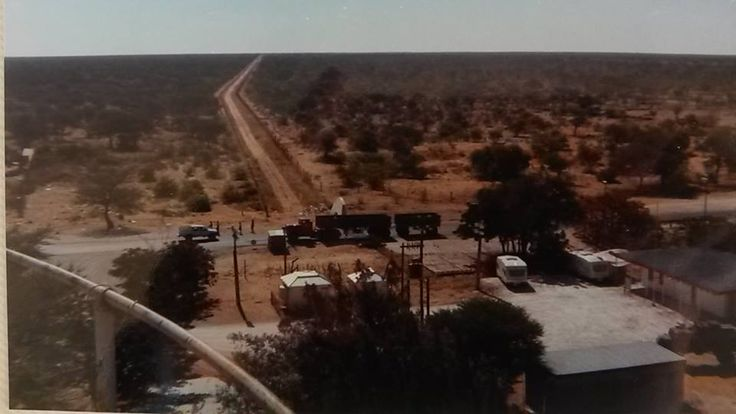 Oshivello from water tower Tsumeb to the left and Ondangwa to the right