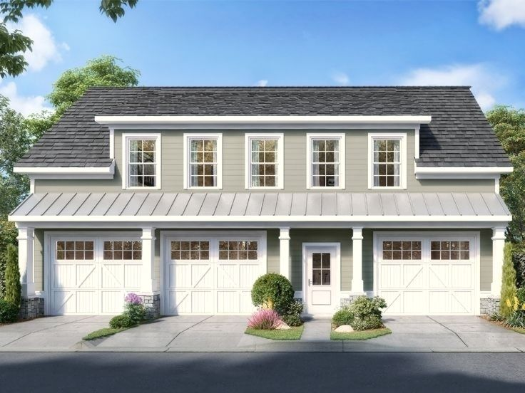 019g 0017 Carriage House Plan With 3 Car Garage En 2020 Garage House Design Garage Plan Maison