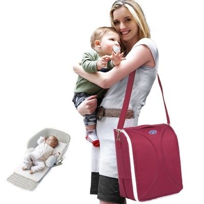 75.00$  Watch now - http://ali18i.worldwells.pw/go.php?t=32656839010 - Mommy Bag Foldable Baby Bed Shoulders Backpack Multifunctional Folding Baby Bed Cuna Portatil Portable babyzen yoyo stroller 75.00$