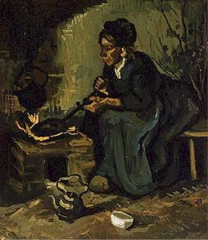 Peasant Woman by the Fireplace,1885