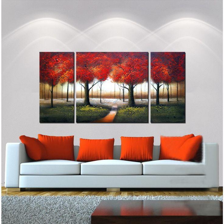 <li>Artist: Unknown</li><li>Red Autumn</li><li>Product type: Hand painted gallery wrapped canvas art set</li>