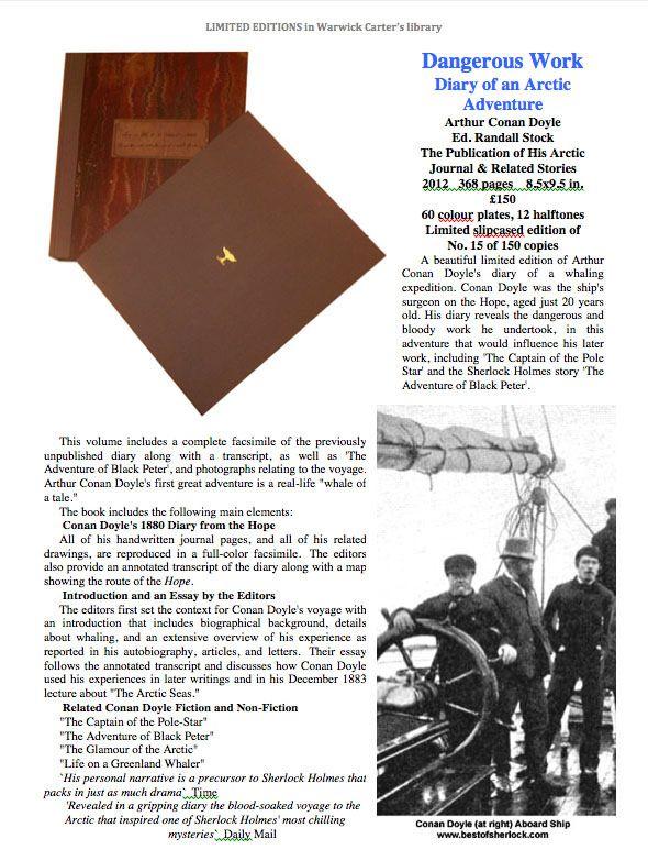 Dangerous Work Diary of an Arctic Adventure - Arthur Conan Doyle