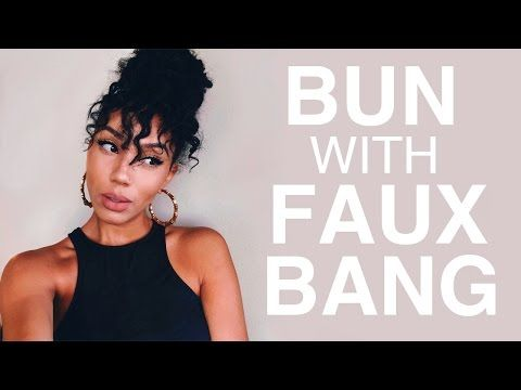 This Stylish Bun With Faux Bangs Looks Great, But It's So Much More Impressive - Black Women's Natural Hair Styles - A.A.H.V