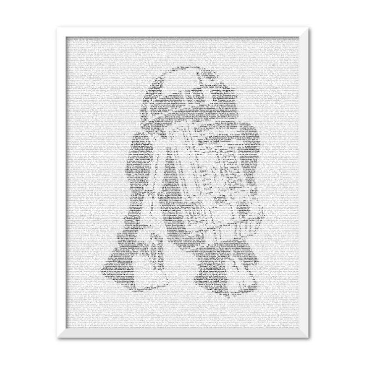 Star Wars R2-D2 text art print | hardtofind.