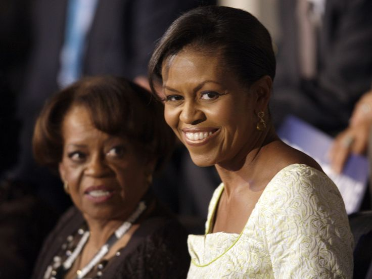 Michelle Obama,  wife of Democratic presidential candidate, Sen. Barack Obama, D-Ill., stands beside her mother Marian Robinson,  at the Democratic National Convention in Denver, Tuesday, Aug. 26, 2008.