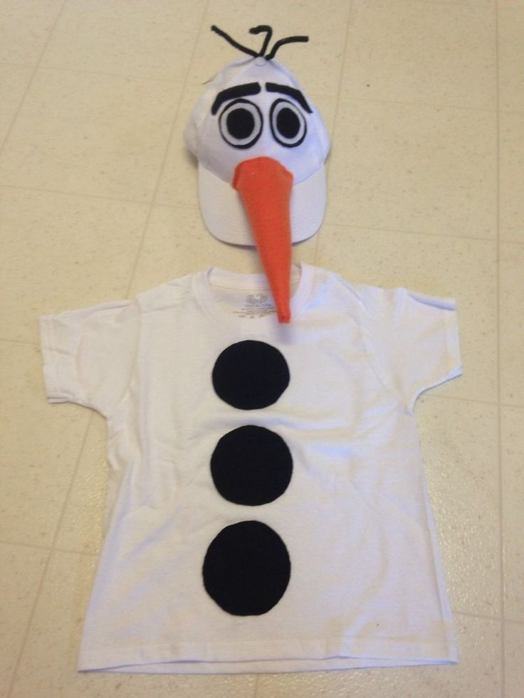 Frozen Olaf The Snowman Disney Halloween Costume 2-4 2T 4T Toddler Homemade #Holiday