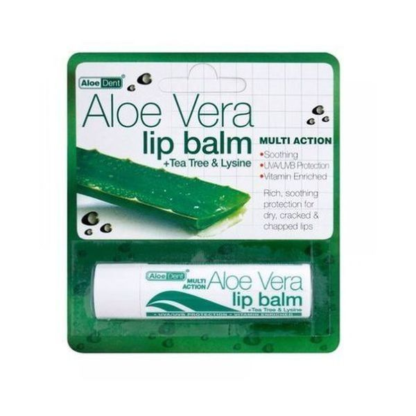 Our handy AloeDent Aloe Vera Lip Balm is the perfect size to fit any handbag or pocket.
