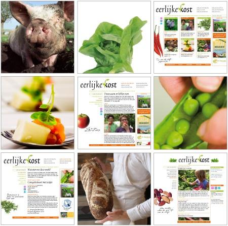 Fotografie en ontwerp voor website eerlijke kost