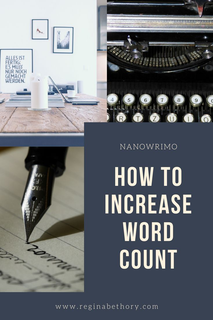 how to increase word count