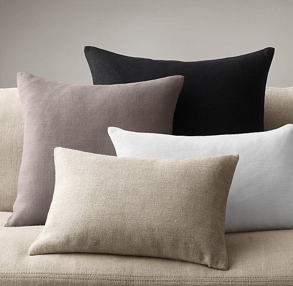 Restoration Hardware - Belgian Linen Knife-Edge Linen Pillow Covers Architecture and Home ...
