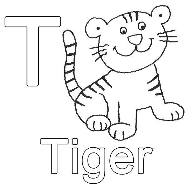 Buchstaben lernen, Tiere zum ausmalen, Deutsche buchstaben