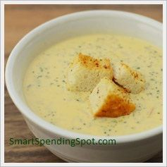 broccoli & cheese soup-under 30 mins to make and under $5 to make