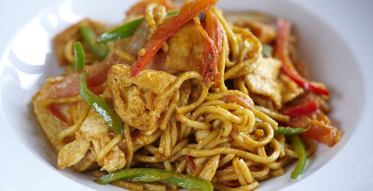 Mee Goreng (Fried Noodles)! Requires two ingredients that may be hard to find depending on where you live...but oh so worth it! Can substitute yu choy with spinach.