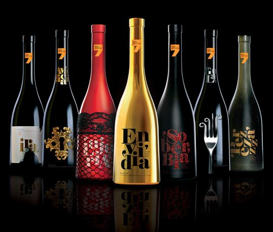 Fantastic package design:  A Series of wines inspired by the Seven Deadly Sins. Designer: Sidecar
