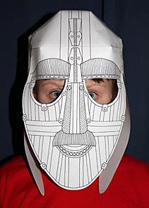 make your own sutton hoo helmet with ebk activity sheets - Kid Sheets