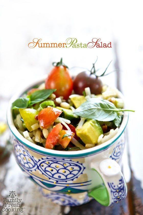 Summer Pasta Salad | MarlaMeridith.com #glutenfree