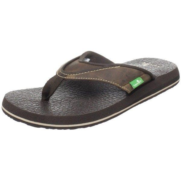 Sanuk Men's Beer Cozy Primo Flip Flop ($17) ❤ liked on Polyvore featuring men's fashion, men's shoes, men's sandals, men's flip flops, mens shoes, sanuk mens shoes, sanuk mens flip flops, mens flip flops and mens sandals