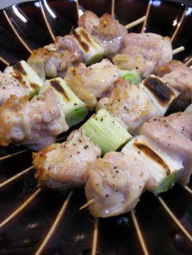 グリルで美味しい焼き鳥串♪(塩焼き)