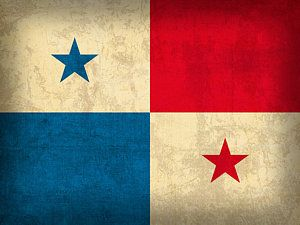 Distressed Flags Mixed Media - Panama Flag Vintage Distressed Finish by Design Turnpike
