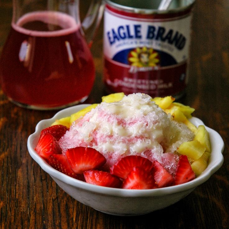 Shave Ice: Infuse your homemade syrups with fresh, seasonal fruit! All-natural flavor and color!