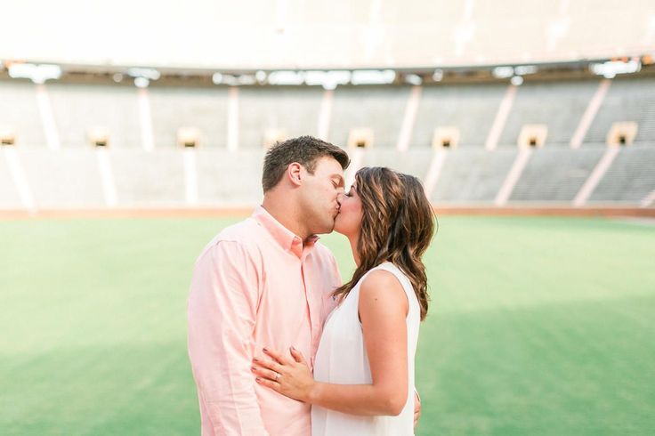 For the sports-loving couple, have your engagement photos taken at the stadium!    Neyland Stadium Engagement Session by Matthew Davidson Photography | Bride Link