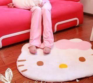 Lovely Big Head Hello #KittyFuzzy #FloorCushion Mat Pad Bedroom Decoration Footcloth Rug 1 PC White #Bestfashion