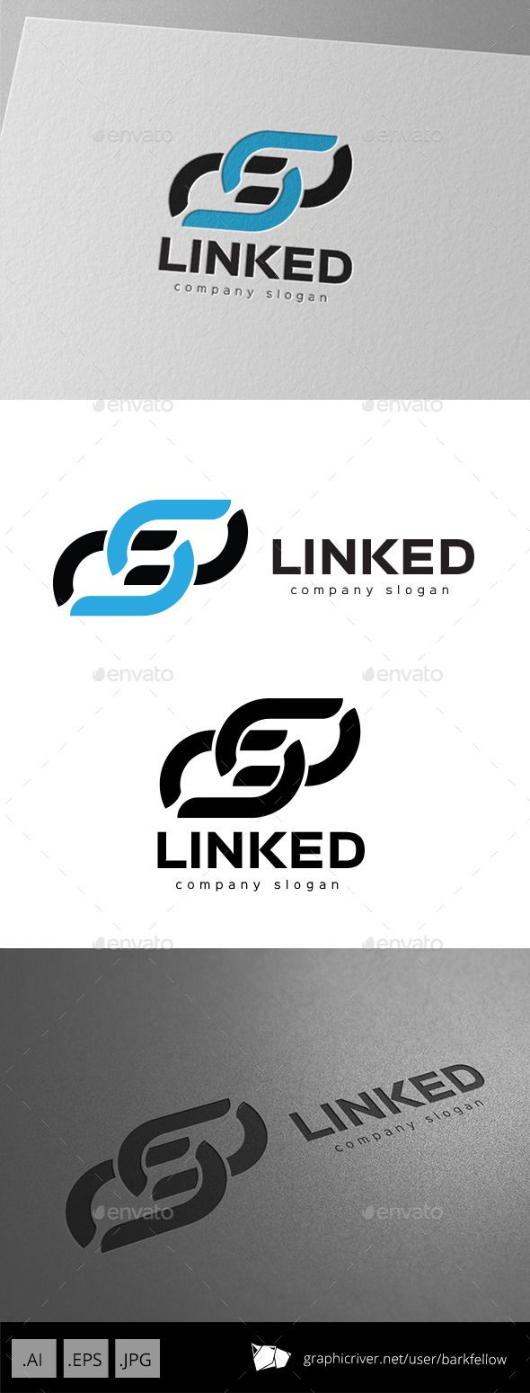 Link and Connect Logo — Vector EPS #technology #cooperation • Available here → https://graphicriver.net/item/link-and-connect-logo/9920296?ref=pxcr