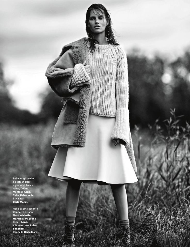 Celine (giedre dukauskaite by emma tempest for amica august 2013)