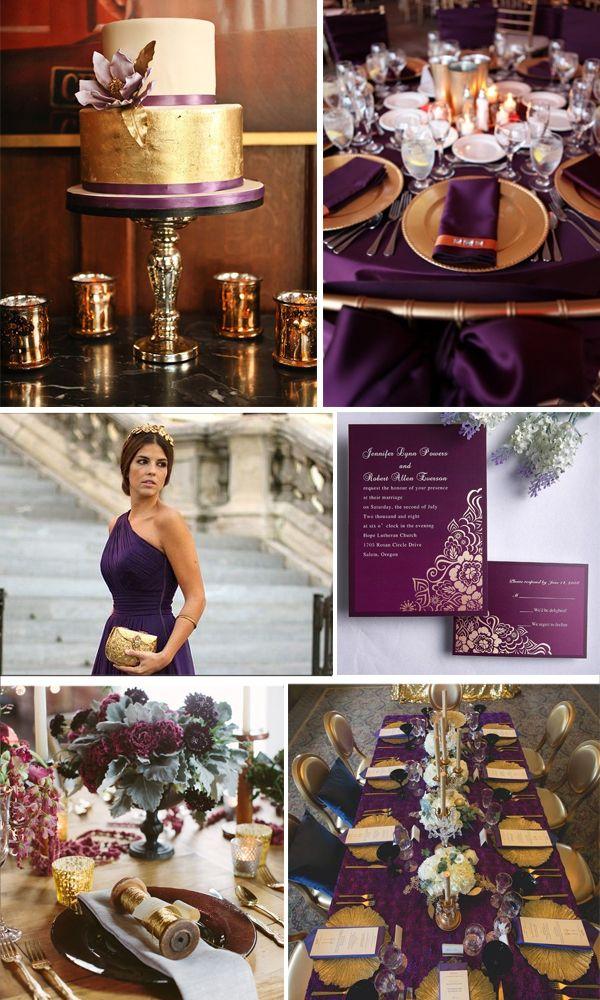 Gold and purple wedding - Matrimonio viola e oro.