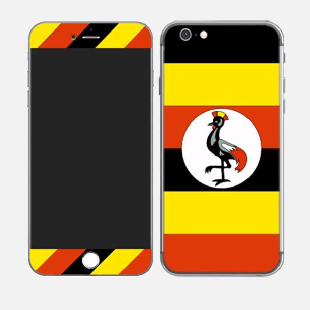 #iPhone6plus Flag of Uganda http://skin4gadgets.com