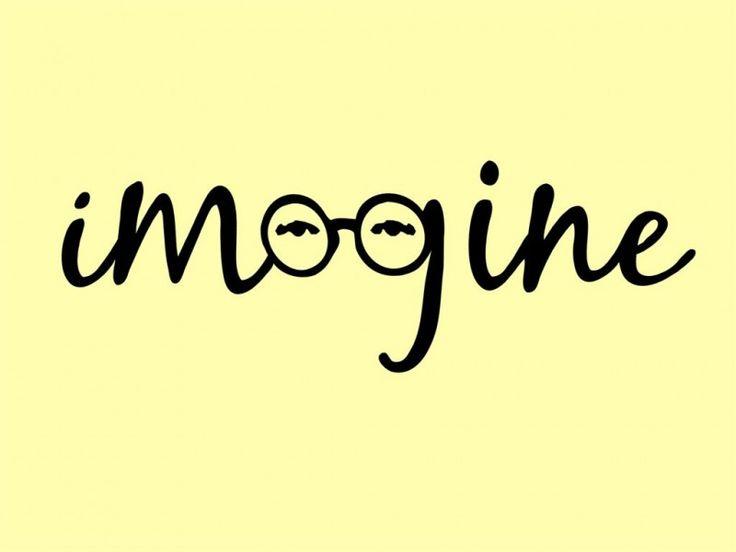 Imagine – John Lennon – Tribute Conceptual Art #epos #quotes #eyewear