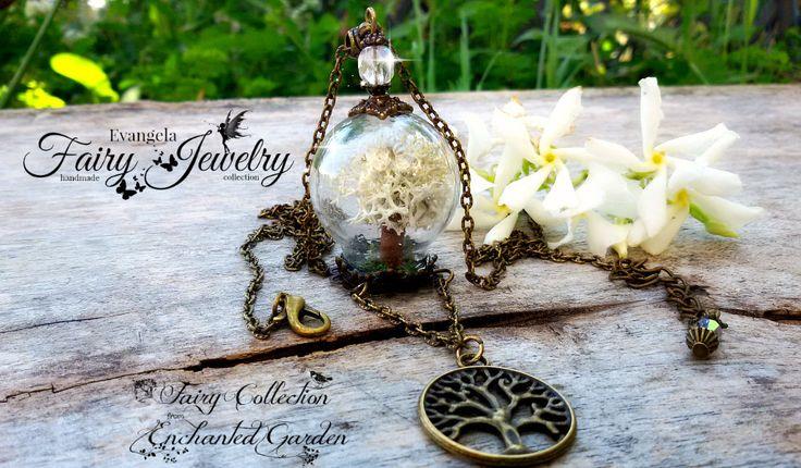 Collana albero della vita materiali naturali miniatura fatta a mano ampolla , by Evangela Fairy Jewelry, 15,00 € su misshobby.com