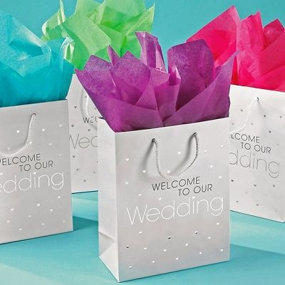 Our sparkly wedding  welcome bags are the perfect size to hold special treats for your out-of-town wedding guests. Sold in packs of 10.