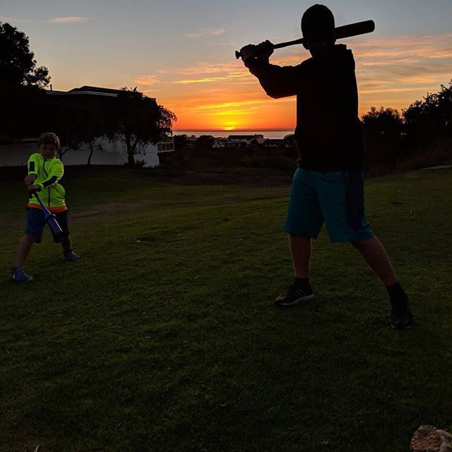 Getting ready for @lajollayouthbaseball tryouts on Saturday at the most scenic fields around! We did some work on the tee and then soft toss while enjoying the beautiful #sunset  We may live in #sandiego #padres country but we love our #giants  My boys are fifth generation #fans  #softtoss #baseball #sfgiants #lajolla #ponybaseball #bronco #mustang #mlb #lajollalocals #sandiegoconnection #sdlocals - posted by Eric Fletcher  https://www.instagram.com/fletch.e.fletch. See more post on La Jolla…