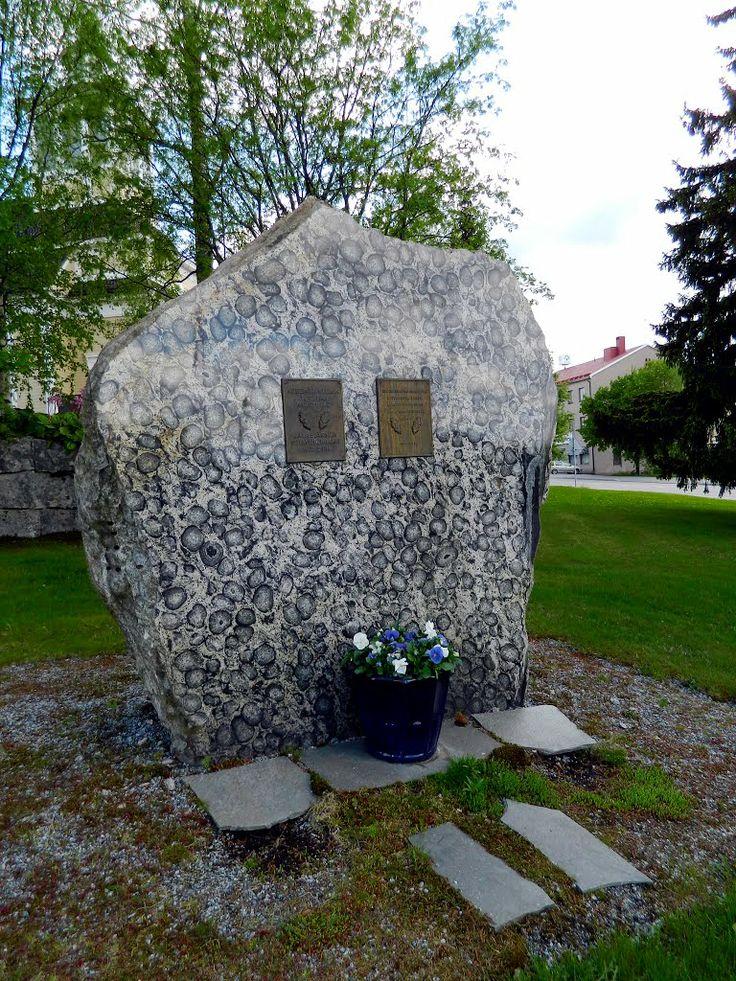 Kitee war battle memorial. Jalasjärvi Finland.