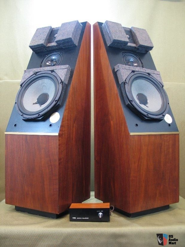 Thiel .03A Extremly Rare Vintage Audiophile Speakers With Original Equalizer!