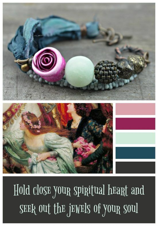 'Hold Close Your Spiritual Heart' Bracelet by Ditsy Blue